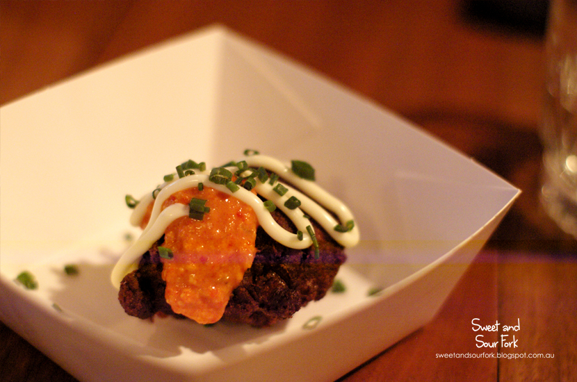Surf n Turf Fritters ($10, 4pcs)