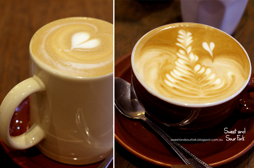 Latte ($4.5, large)/Flat White ($3.5, small)