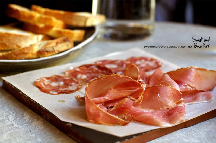 Prosciutto ($9 for 1, $12 for 2, $18 for 3)