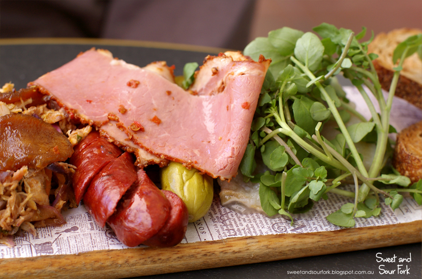 Pork and Veal Sausage/Corned Beef/House Pickle