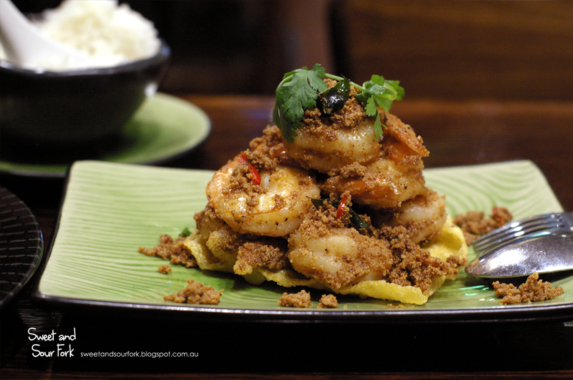 Coconut Butter Prawns ($22)