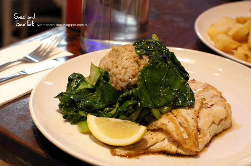 Grilled NZ Dory with Rice and Asian Greens ($14.95)