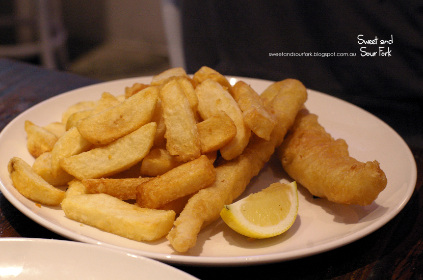 Tempura Battered NZ Blue Grenadier with Hand Cut Chips ($13.5)