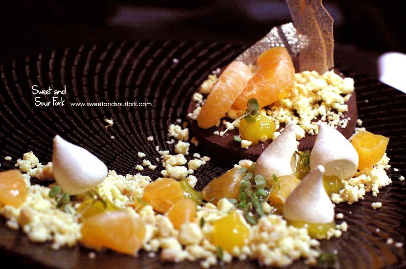 Chocolate Ganache, Mandarin, Milk Crumb