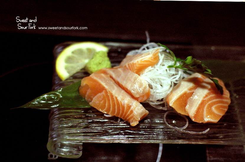 Salmon Sashimi ($6; normally $8, 5pcs)