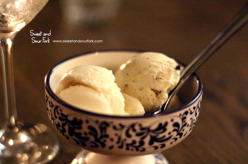 Fior di Latte Gelato($3)/Saffron and Chocolate Gelato ($3)