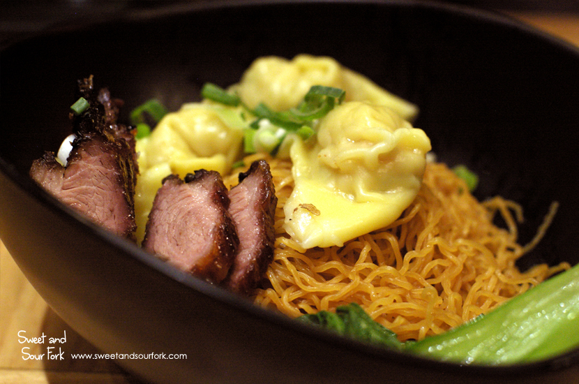 BBQ Pork and Steamed Wonton Dry Noodle ($10.9)