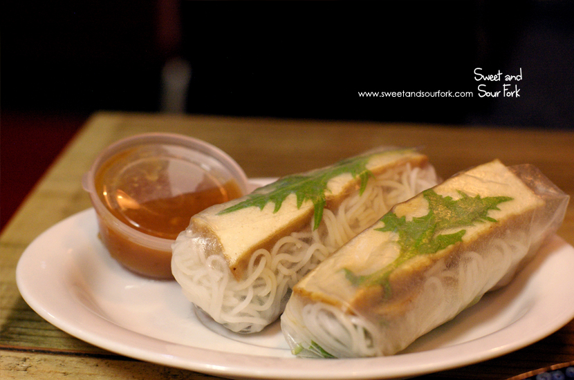 Seasonal Mushroom 'n' Tofu Rice Paper Rolls ($5.5, 2pcs)