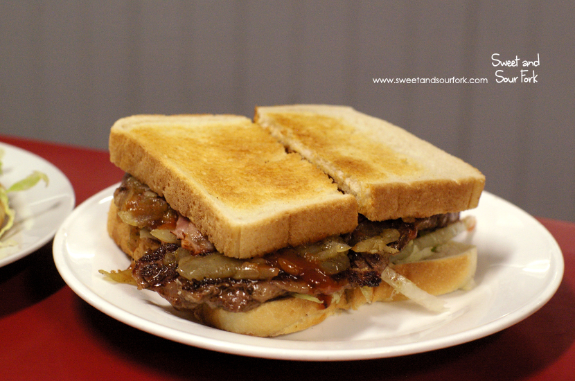 Steak Sandwich with Bacon ($8.4)