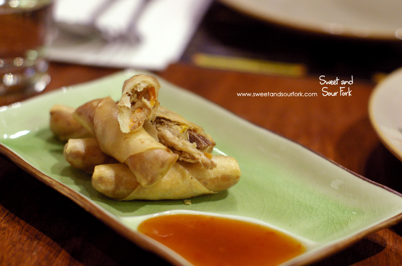 Pulled Pork Spring Rolls ($6.9, 4pcs)