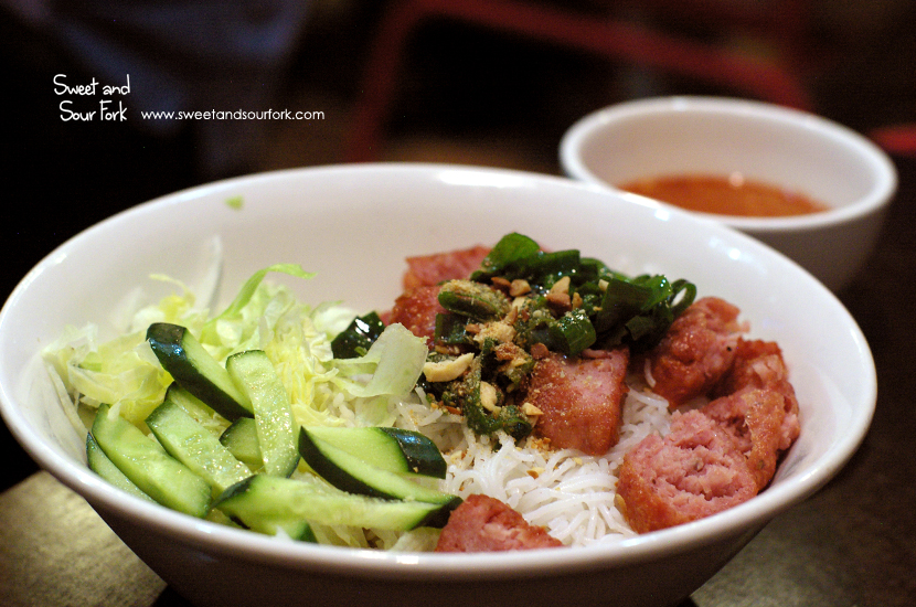 Rice Vermicelli with Grilled Pork Balls ($10)