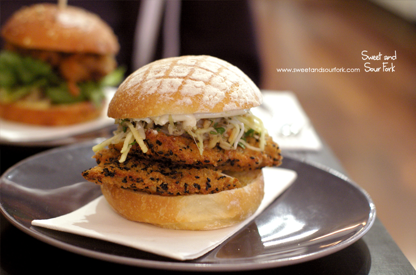 Panko Black Sesame Crumbed Chicken Burger ($15.5)