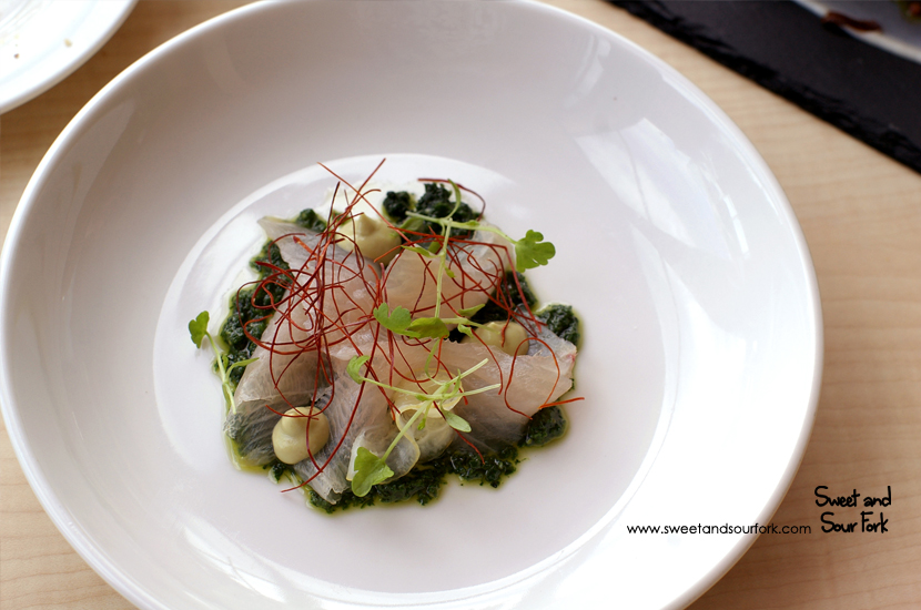 Cured Kingfish, Avocado, Threaded Chilli & Nettles ($22)