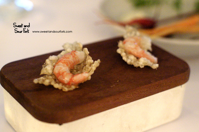 Prawn on Rice Cracker