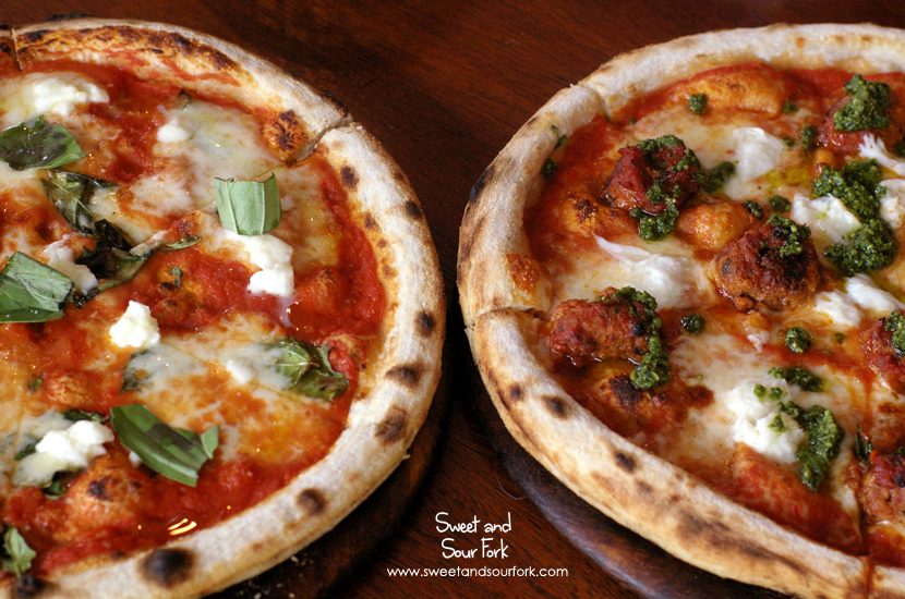 Margherita Pizza ($18)/Classic Italian Meatball Pizza ($22.5)