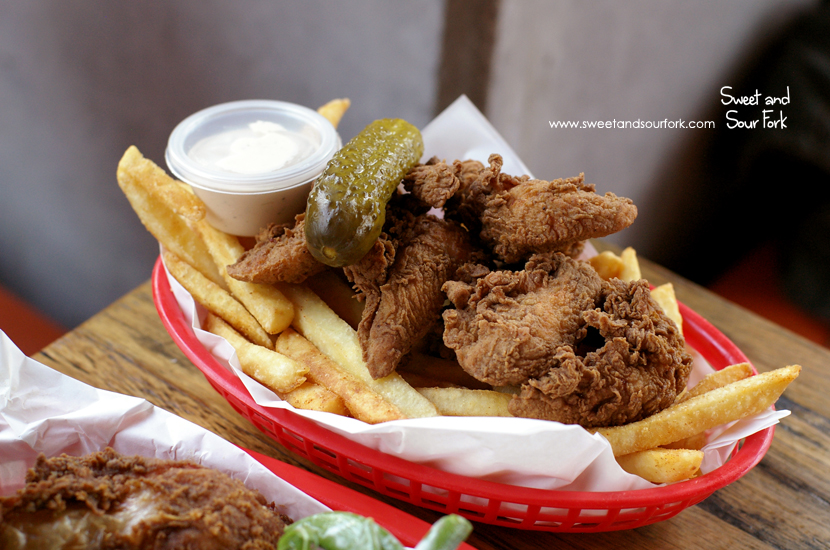 Fried Tenders with Chips ($14.5)
