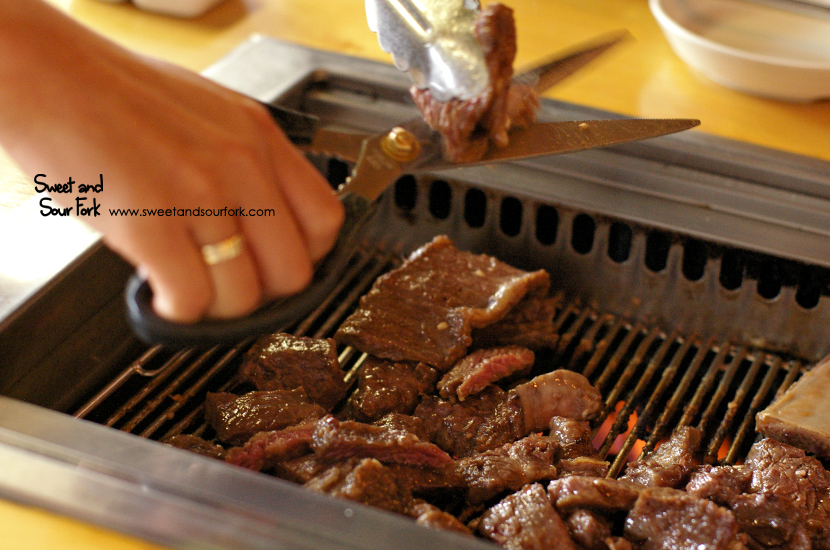 Famous Marinated Galbi Beef Ribs (350g)/Skirt Steak (200g)