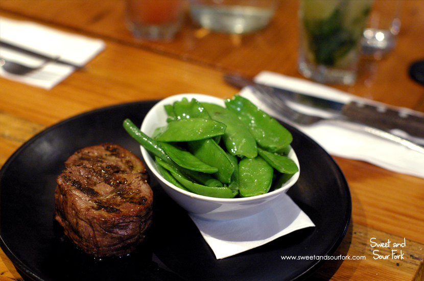 220g Eye Fillet ($31.5)/Seasonal Vegetables ($5.5)