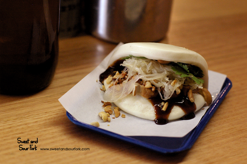 Smoked Tofu Bun with Peanuts ($4.5)