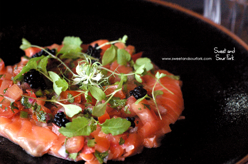 Green Tree Ant Cured Salmon ($18)