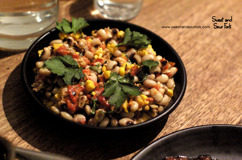 Black Eyed Peas with Roasted Peppers ($8)