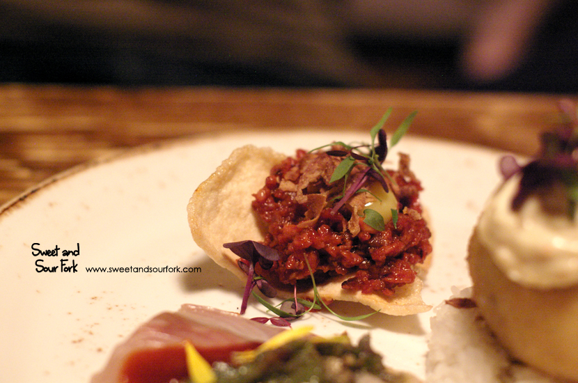 Sichuan Style Beef Tartare ($11)