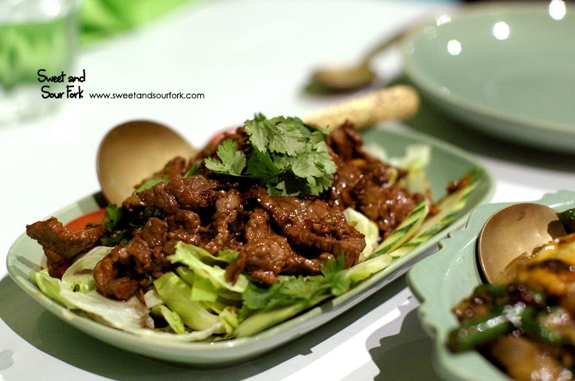 Beef Pad Gratiam Prig Thai ($16.5)