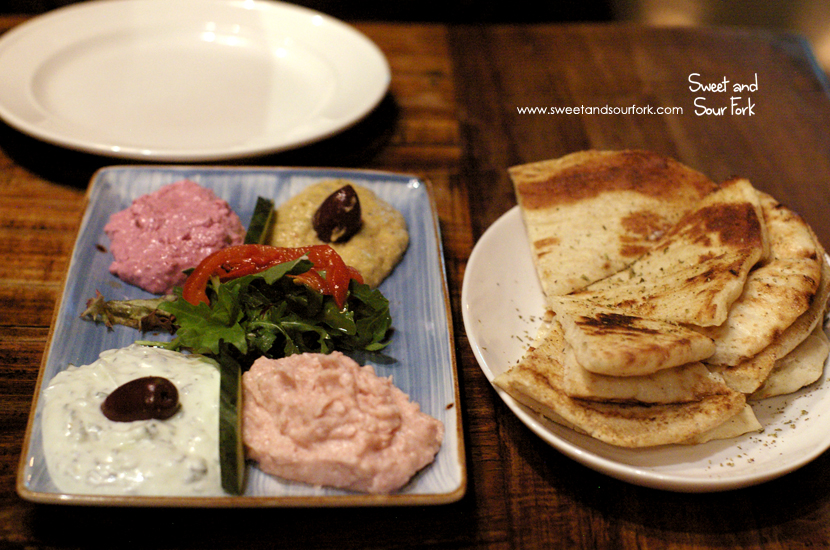 Mixed Dips ($17)/Pita Bread ($2)