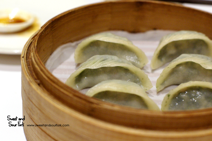 Vegetable and Pork Jiao Zi ($10.8. 6pcs)
