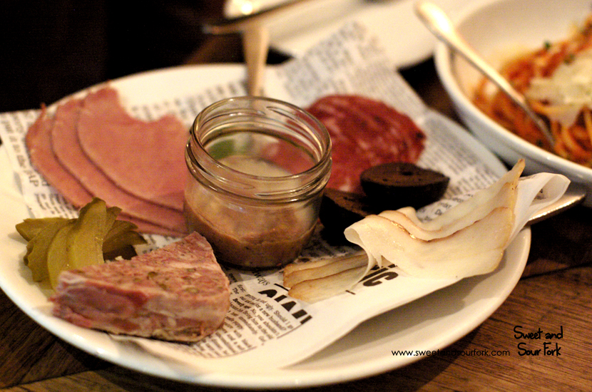Charcuterie with Rillettes and Terrine ($15.5)