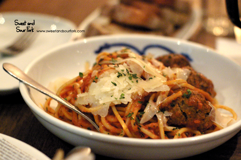 Spaghetti and Meatballs with Parmesan ($22)