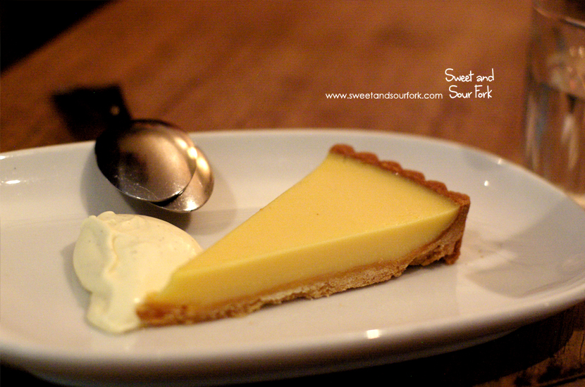 Lemon Tart with Clotted Cream ($8)