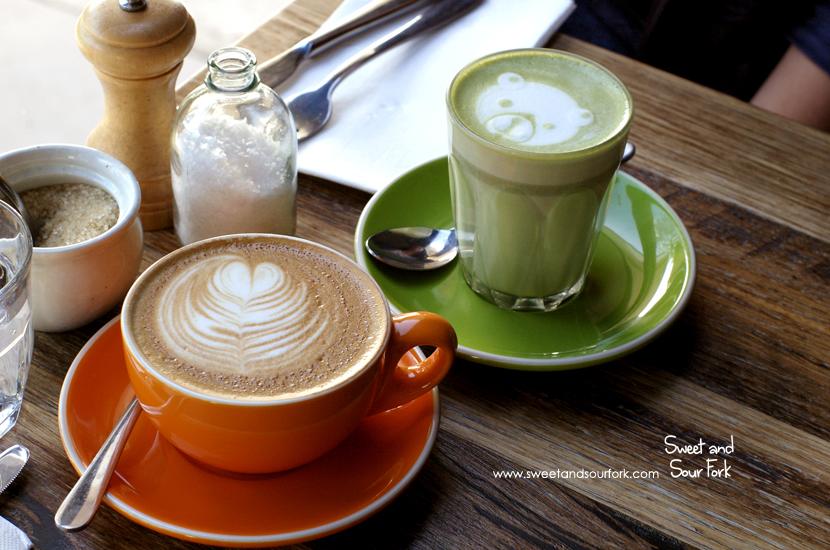 Skinny Flat White ($3.7)/Matcha Latte