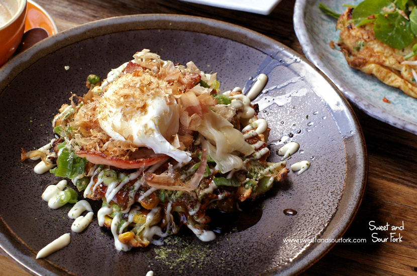 Japanese Cabbage and Corn Fritter ($17)