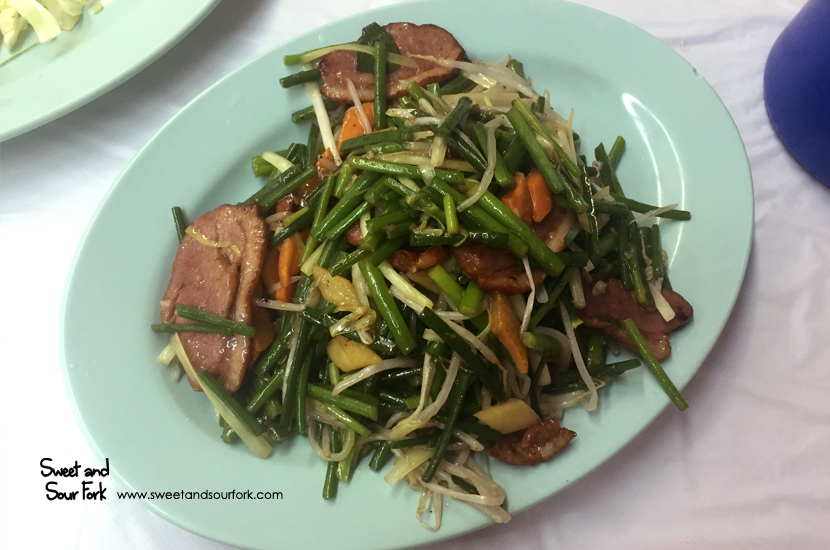 Stir-Fried Duck Breast with Garlic Sprouts