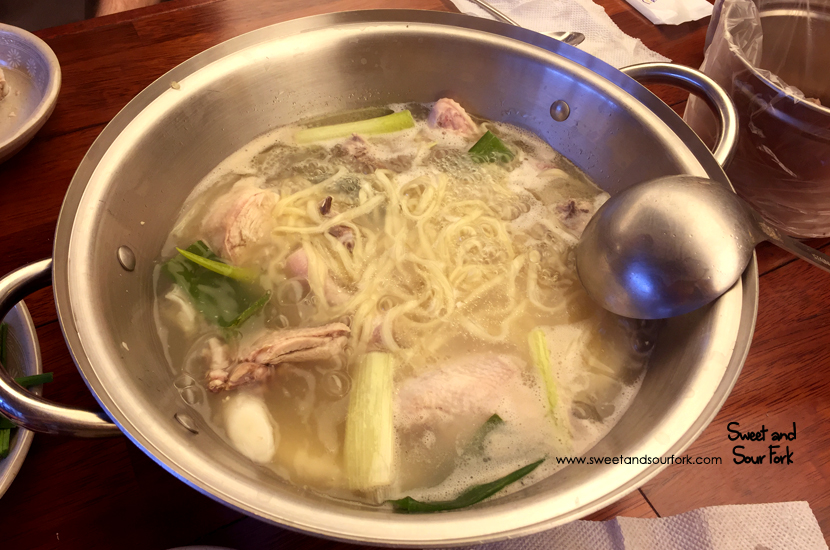 Ginseng Chicken Soup with Noodles