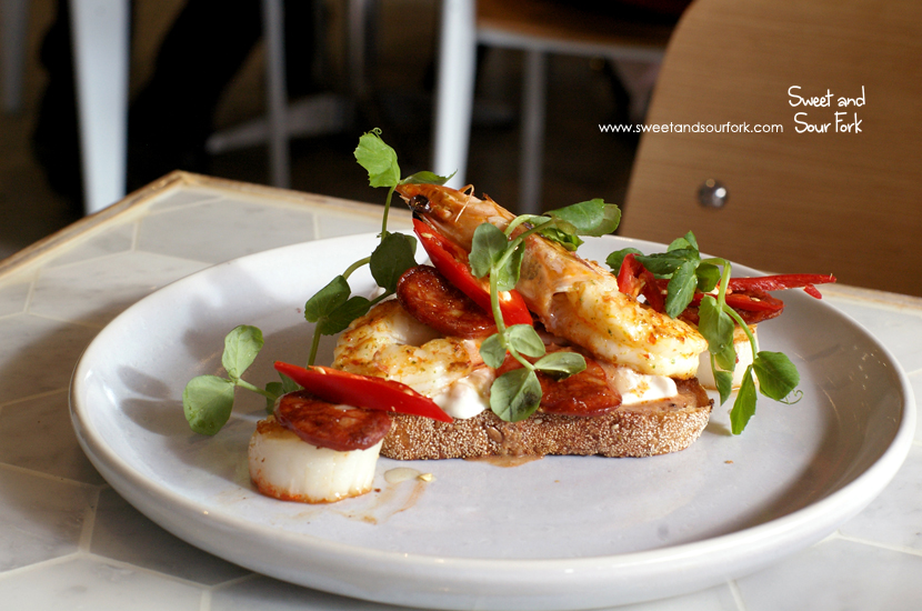 Chilli Prawn And Chorizo ($22)