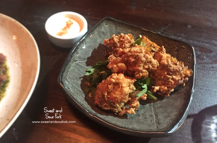 Prawn and Corn Fritters ($12.5)