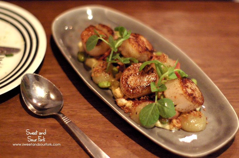 Seared Scallops and Pork Hock ($19)