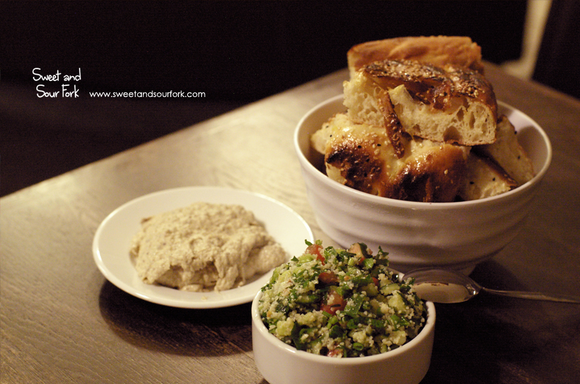 Patlican Dip ($5.5, small)/Turkish Bread/Tabouli ($5.5, small)