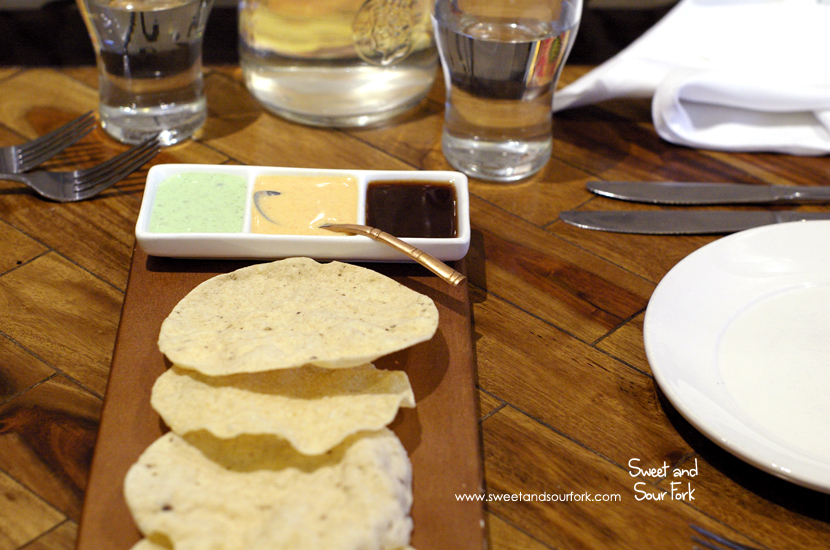 Trio of Dips and Papadum ($6)