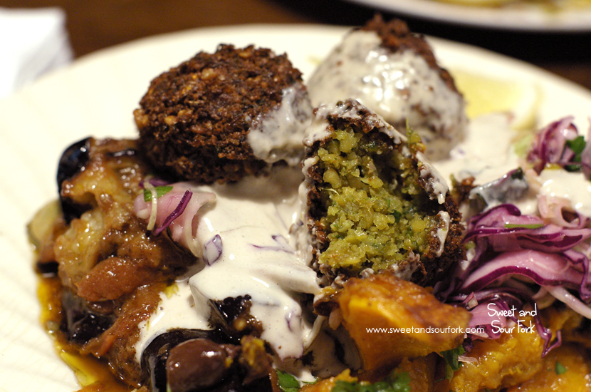 Salad Plate with 3 Falafel Balls ($13)