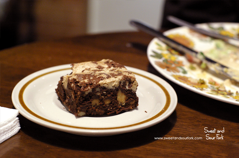 Halva and Walnut Brownie ($4)