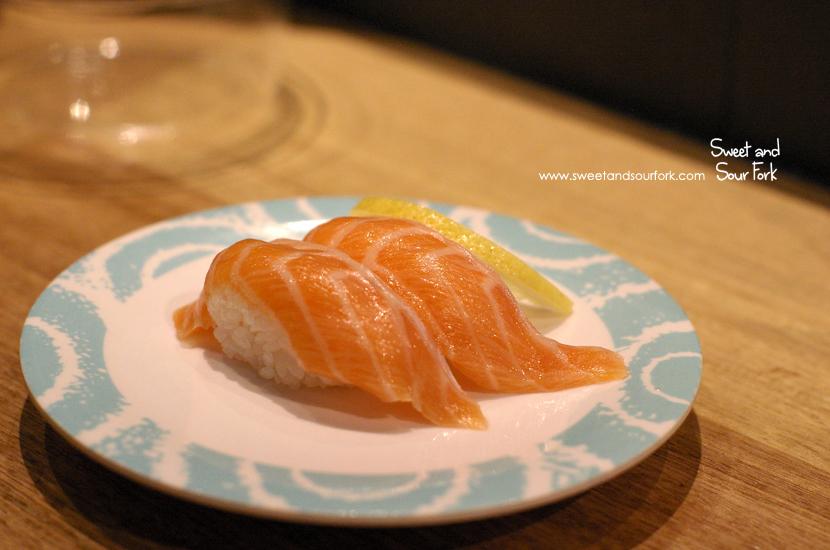 Salmon Nigiri ($3.8)