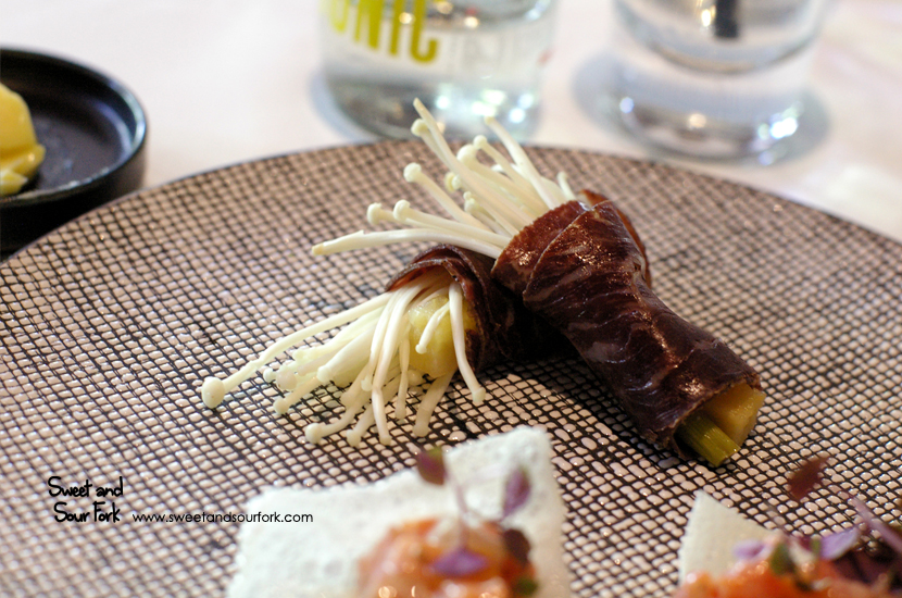 Wagyu Bresaola, Enoki Mushrooms, Pickled Daikon