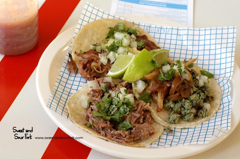 Suadero Taco ($5)/Green Chorizo Taco ($5)/Al Pastor Taco ($5)