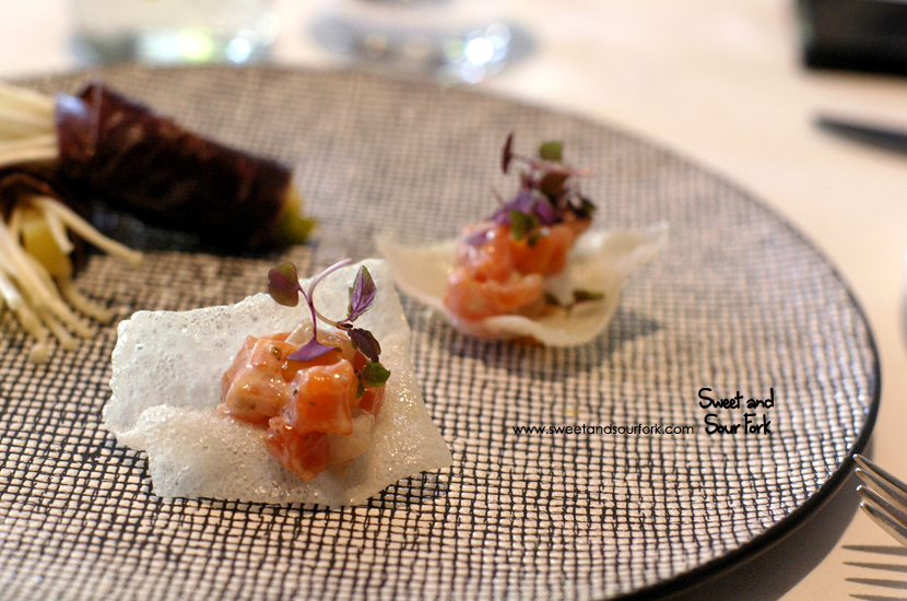 Ora King Salmon and Kingfish Tartare