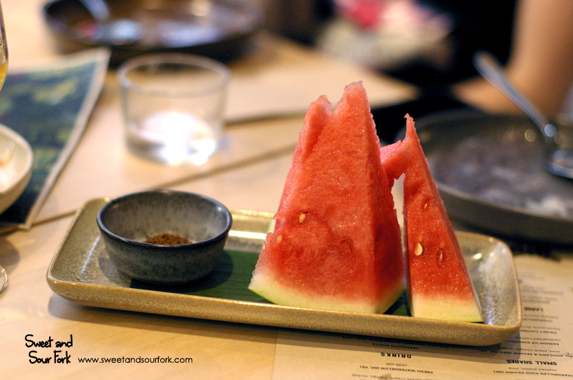 Watermelon with Chilli Salt