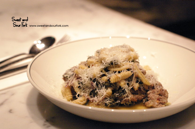 Cavatelli with Sausage, Rapa, Chilli and Onion ($23)