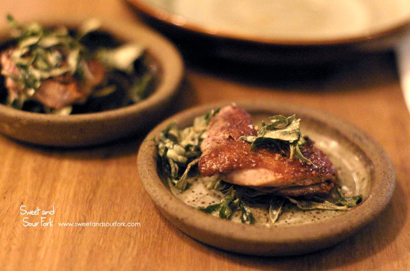 Quail Breast with Saltbush